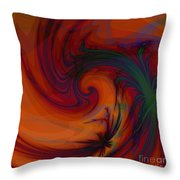 Smoke And Feathers Throw Pillow