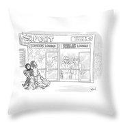 Smoke And Mirrors Lounge Throw Pillow