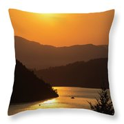 Smoke From Bc Wildfires Adds Colour Throw Pillow