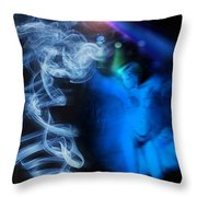 Smoke Gets In Your Eyes Throw Pillow