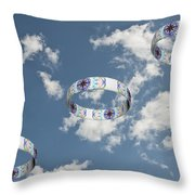 Smoke Rings In The Sky 2 Throw Pillow