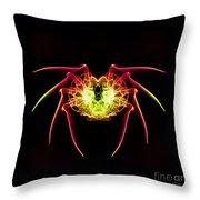 Smoke Spider Throw Pillow