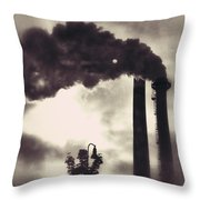 Smoke Stack Throw Pillow