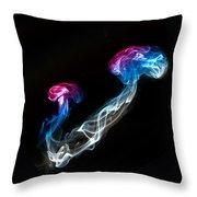Smoked Jellyfish Throw Pillow