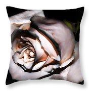 Smoked Rose Throw Pillow