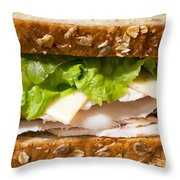 Smoked Turkey Sandwich Throw Pillow by Edward Fielding