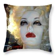 Smokey Eyed Blonde Throw Pillow
