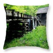 Smoky Mountain Mill Throw Pillow