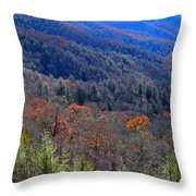 Smokey Mountain Pass Throw Pillow