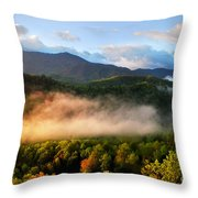 Smokies At Sunrise Throw Pillow