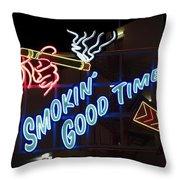 Smokin Good Times In Las Vegas Throw Pillow