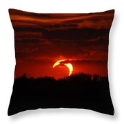 Smokin Moon Throw Pillow
