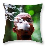 Smokin Puffs Throw Pillow