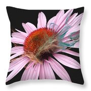 Smoking Beauty Throw Pillow by M Montoya Alicea
