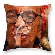 Smoking - Caribbean Serie Throw Pillow