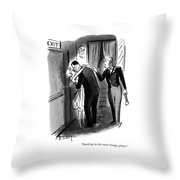 Smoking In The Outer Lounge Throw Pillow by Barney Tobey