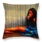 Her Red Heels Throw Pillow