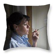 Smoking Throw Pillow