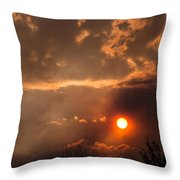 Smoky Clouds Over The Rogue Valley Throw Pillow