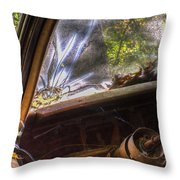 Smoky Crack Lower Left Windshield 2 Throw Pillow