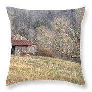 Smoky Mountain Barn 4 Throw Pillow