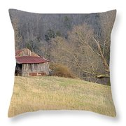 Smoky Mountain Barn 9 Throw Pillow