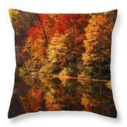 Smoky Mountain Colors - 235 Throw Pillow