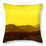 Smoky Mountain Glow Throw Pillow