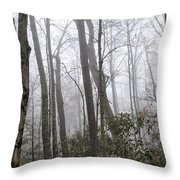 Smoky Mountain Hardwoods Throw Pillow