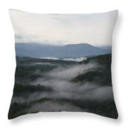 Smoky Mountain Mist Throw Pillow