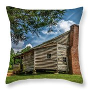 Smoky Mountain Pioneer Cabin E126 Throw Pillow