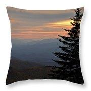 Smoky Mountain Sentinel  Throw Pillow
