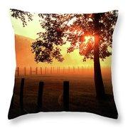 Smoky Mountain Sunrise Throw Pillow