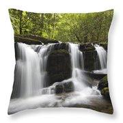 Smoky Mountain Waterfall - D008427 Throw Pillow
