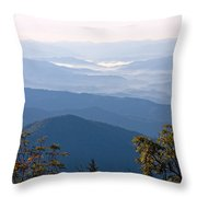 Smoky Mountains From Clingmans Dome Throw Pillow