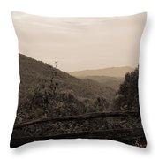 Smoky Mountains Lookout Point Throw Pillow