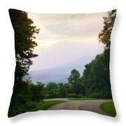 Smoky Mountains Scene Throw Pillow