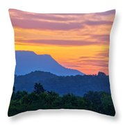 Smoky Mountains Sunrise Throw Pillow