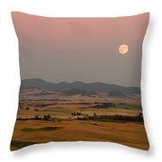 Smoky Palouse Throw Pillow