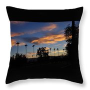 Smoky Sky The Morning After Fire Throw Pillow