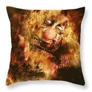 Smoky The Voodoo Clown Doll  Throw Pillow