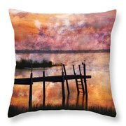 Smoldering Sunrise Throw Pillow