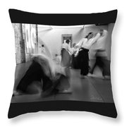 Smooth Aikido Throw Pillow