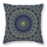 Smooth Squares Kaleidoscope Throw Pillow
