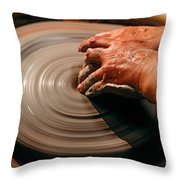 Smoothing Clay Throw Pillow