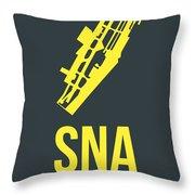 Sna Orange County Airport Poster 3 Throw Pillow