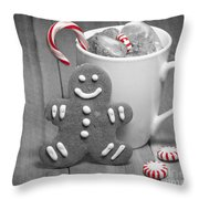 Snack For Santa Throw Pillow by Juli Scalzi