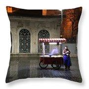 Snack Seller Cankurtaran Istanbul Throw Pillow