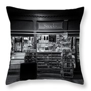 Snack Shop Bw Throw Pillow