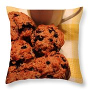 Snack Time - Muffins And Coffee Throw Pillow